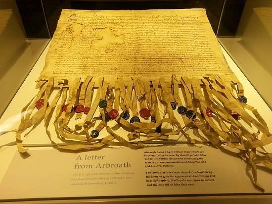 arbroath declaration from arbroath abbey
