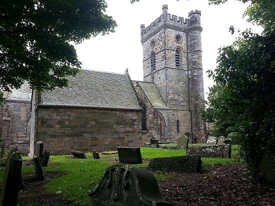 graveyard in culross abbey grounds
