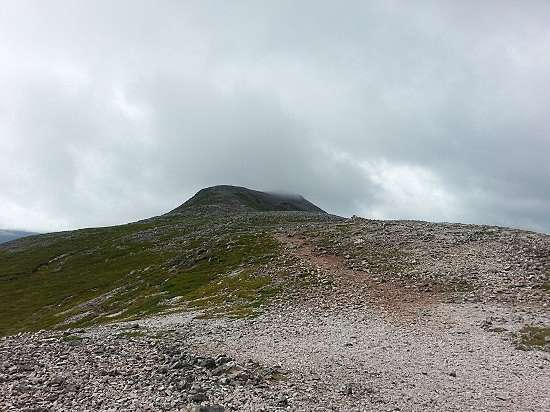 the conical summit schiehallion.
