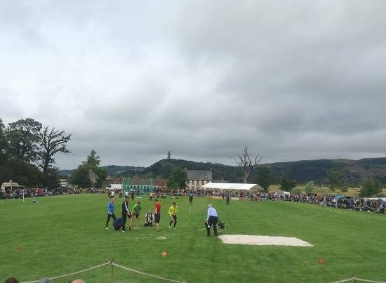 wallace monument from the stirling highland games