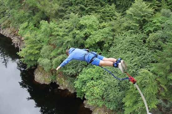 bungee jump walking killiecrankie pass.