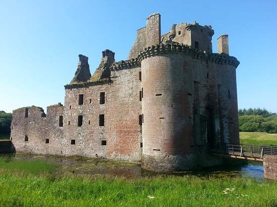 top 10 scottish castles caerlaverock..