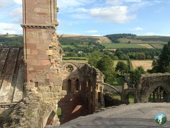 melrose abbey top weekend in the scottish borders.