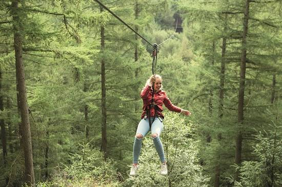 go ape zip wire weekend in the Scottish Borders.