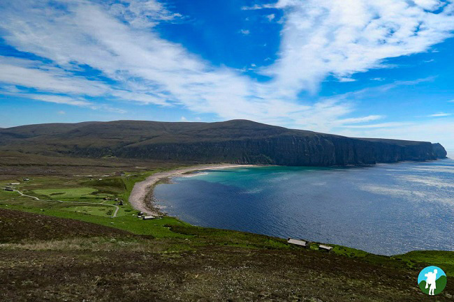 rackwick beach from above hoy day trip