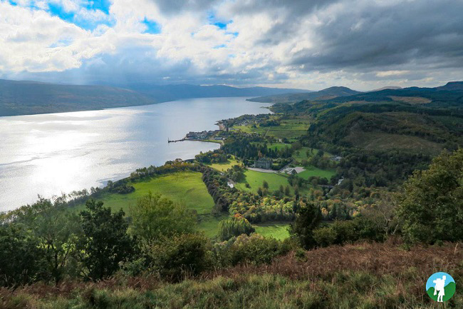 view from dun na cuaiche glasgow to inveraray