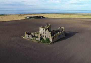 pittulie castle drone