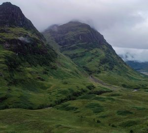 glen coe scottish highland road trip
