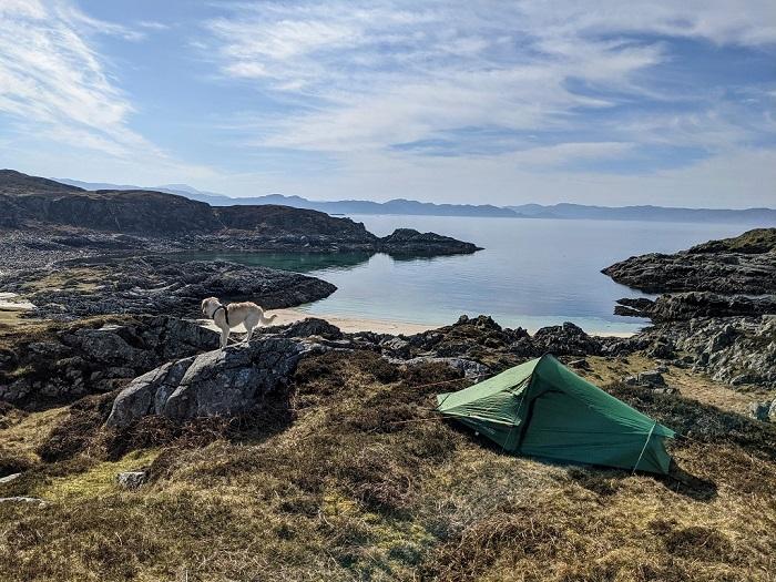 wild camping staycation scotland